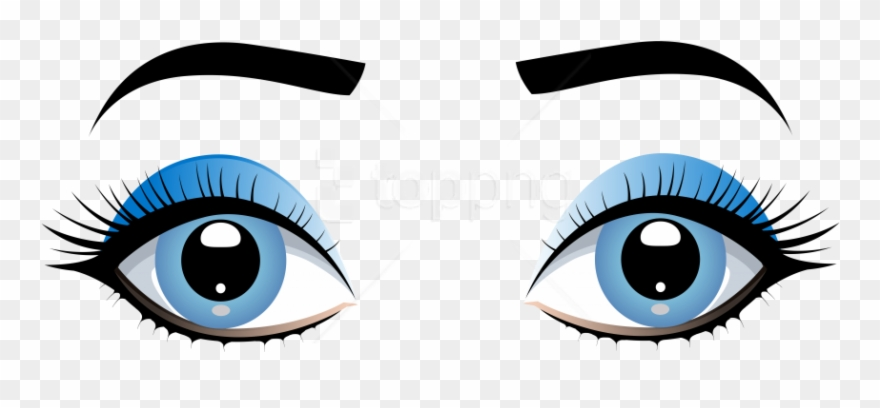 Womens eyes with lashes clipart transparent download Download Blue Female Eyes With Eyebrows Clipart Png ... transparent download