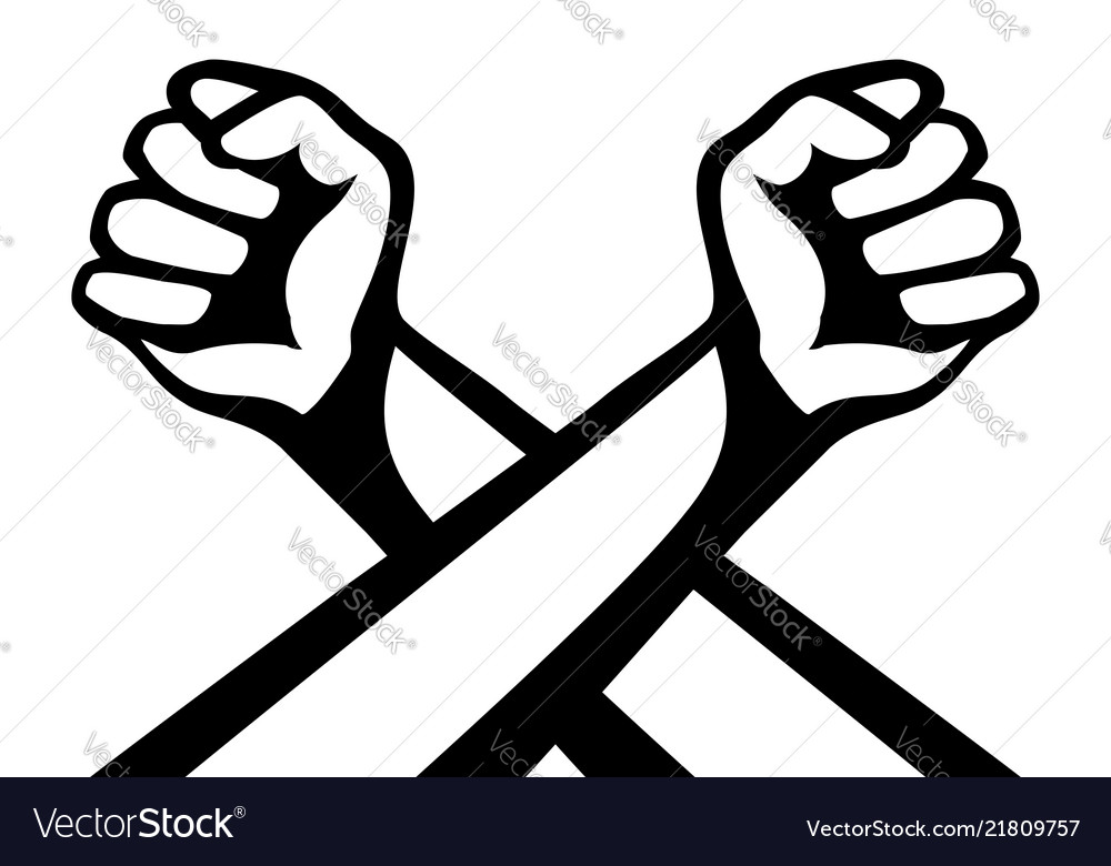 Women-s fists clipart png transparent library Two crossed hands with fists png transparent library