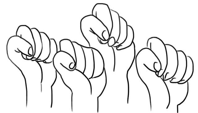 Women-s fists clipart