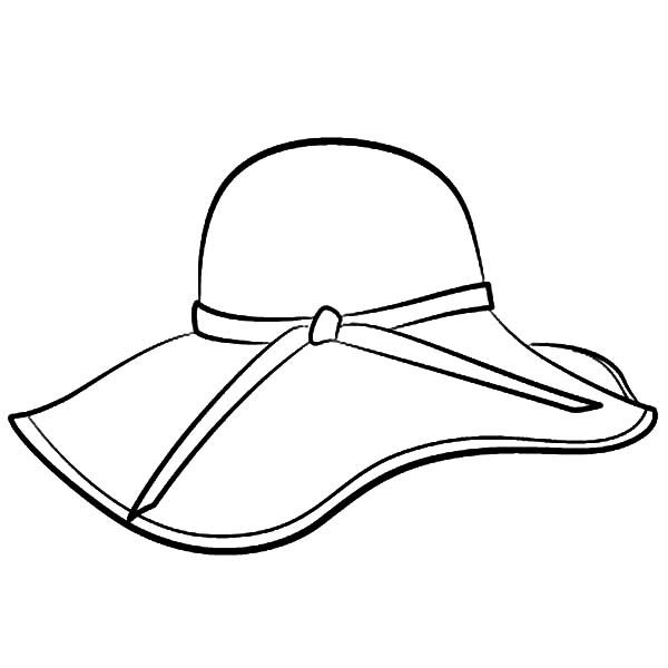 Womens wedding hat clipart png black and white download Floppy Hat Coloring Page | pattern | Hat template, Floppy ... png black and white download