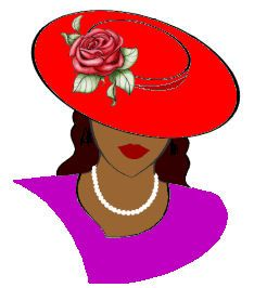 Womens hat clipart red hatters jpg royalty free library 143 Best Red Hat Society images in 2019   Red hat society ... jpg royalty free library
