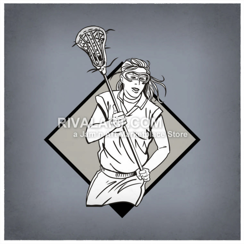 Womens lacrosse player clipart svg download Womens Lacrosse Players svg download