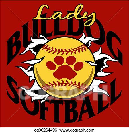 Womens senior softball clipart vector free Vector Stock - Lady bulldog softball. Clipart Illustration ... vector free
