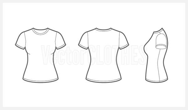 Womens t shirt clipart vector royalty free 17 Women T-Shirt Template Vector Images - T-Shirt Vector ... vector royalty free