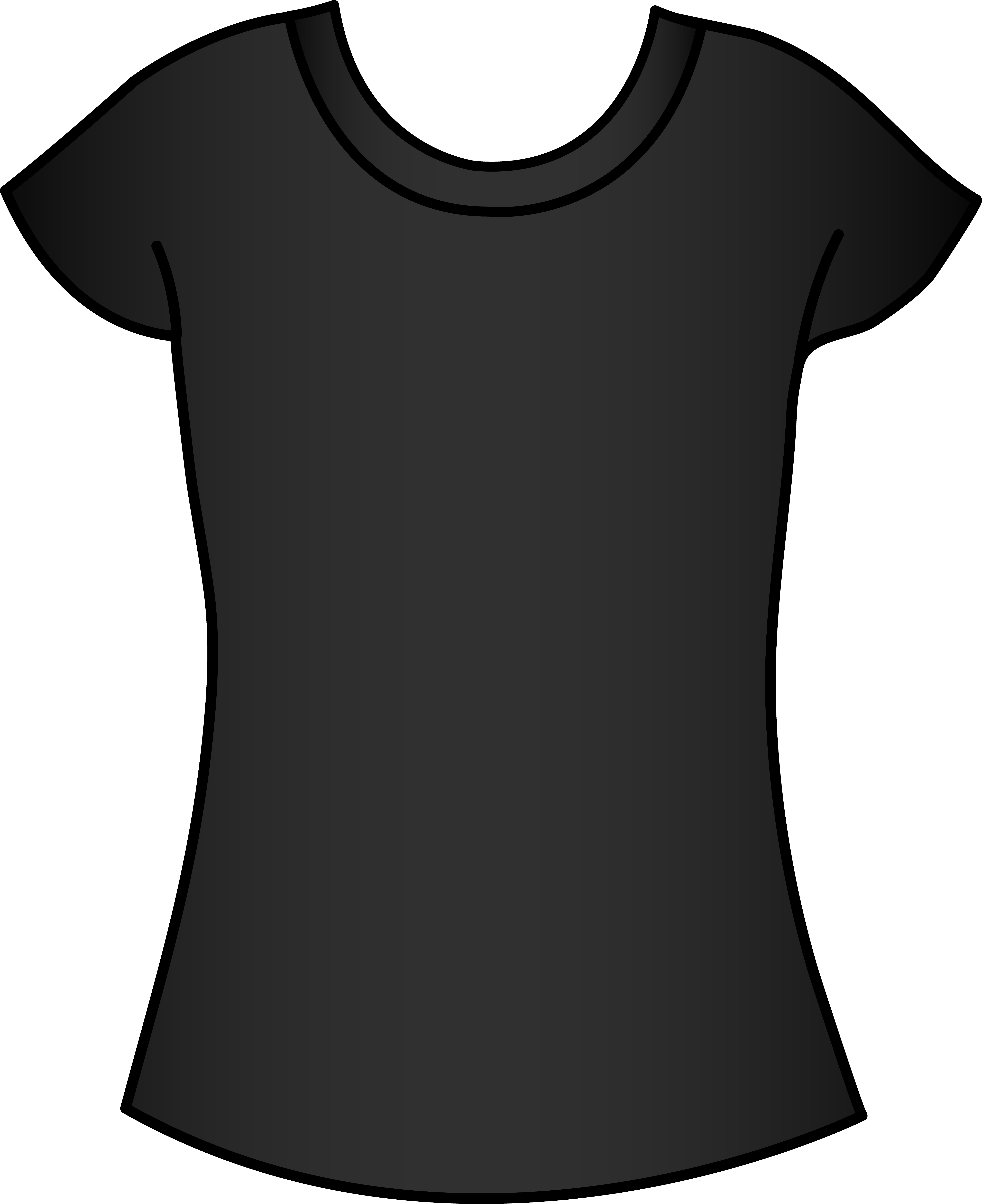 Womens t shirt clipart picture library stock Womens Black T Shirt Template - Free Clip Art picture library stock