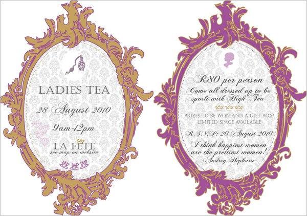 Womens tea invitation clipart clipart free library 41+ Tea Party Invitation Templates - PSD, AI | Free ... clipart free library