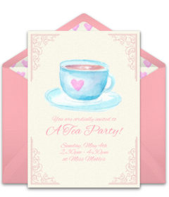 Womens tea invitation clipart image library stock Free Tea & Coffee Online Invitations | Punchbowl image library stock