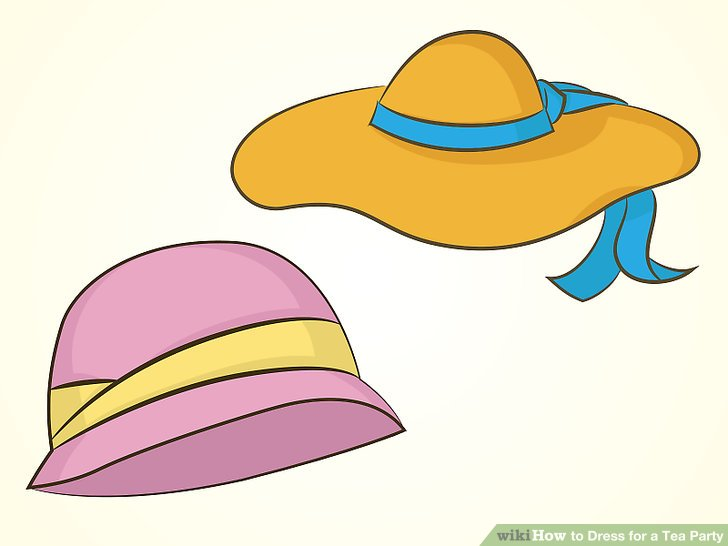 3 Ways to Dress for a Tea Party - wikiHow clip transparent stock