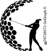 Womensgolf clipart clipart library stock Woman Golfer Clip Art - Royalty Free - GoGraph clipart library stock
