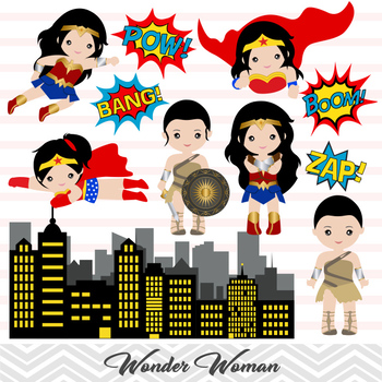 Wonder clipart thanksgiving clip transparent library Wonder Woman Clip Art, Digital Wonder Woman Clipart, Cute Wonder Woman clip transparent library