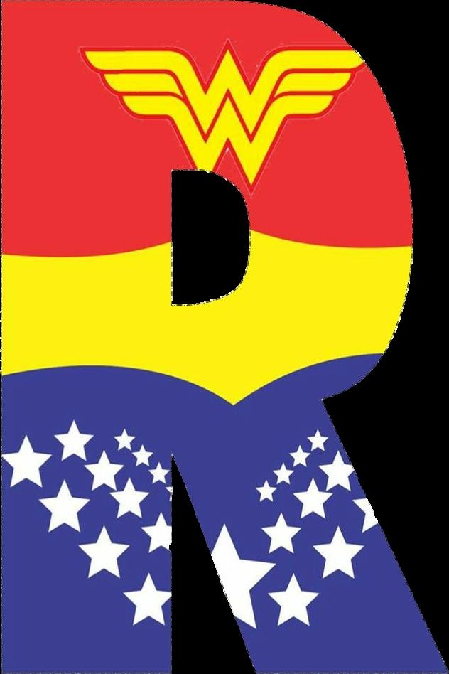 Wonder woman clipart letters picture transparent wonderwoman alphabet letters R picture transparent