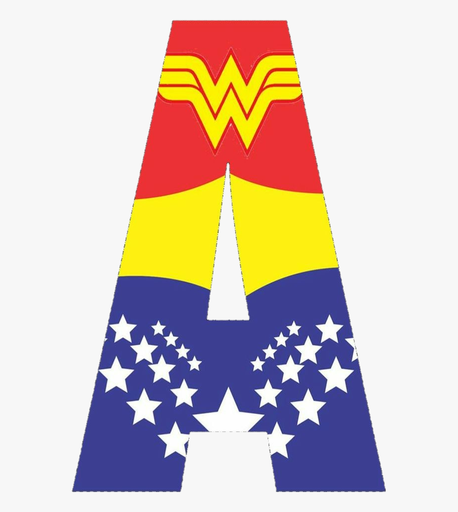 Wonder woman clipart letters free library wonderwoman #alphabet #letters #a - Letra A Da Mulher ... free library