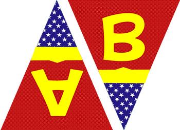 Wonder woman clipart letters image transparent Wonder Woman Alphabet Banner image transparent