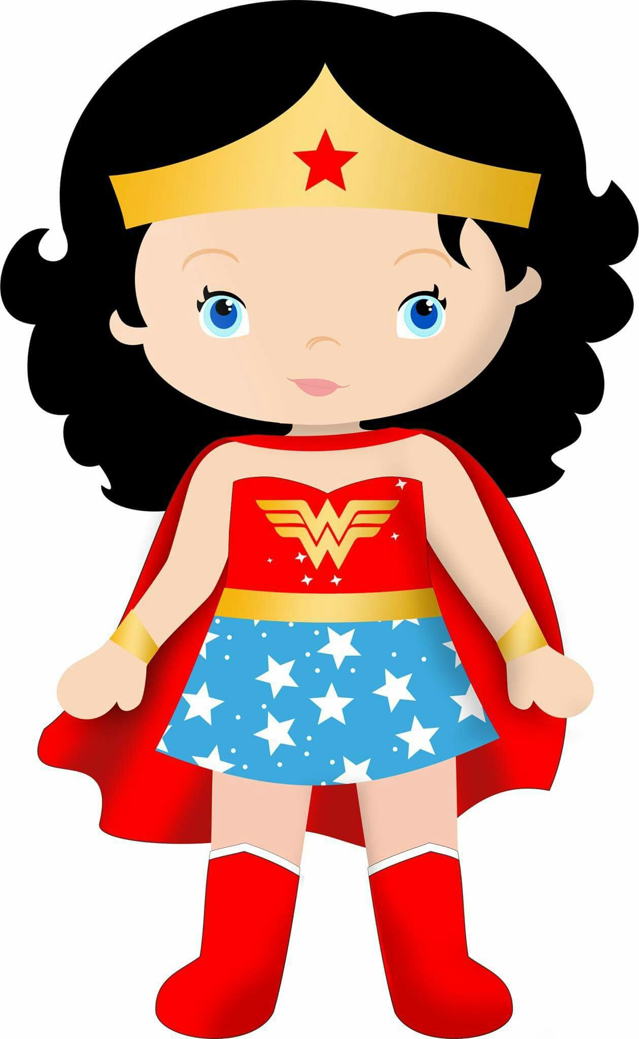 Wonder woman tiara clipart banner black and white Women Superhero Cliparts | Free download best Women ... banner black and white