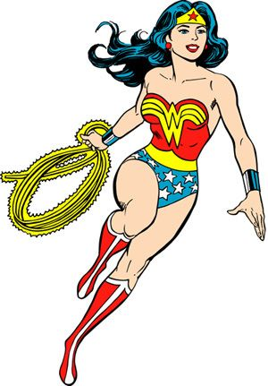 Wonder woman she can do it clipart image freeuse library A Chronological Look at 13 Classic Comic Heroines | DC ... image freeuse library