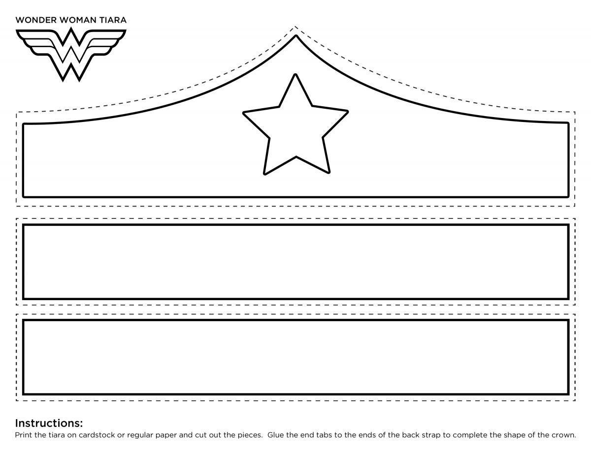 Wonder woman tiara clipart graphic freeuse stock Wonder Woman Crown Printable Template | girl scouts in 2019 ... graphic freeuse stock