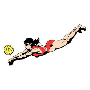 Wonder woman volleyball clipart jpg stock Volleyball Player Postcards   Zazzle AU jpg stock
