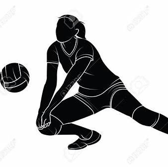 Wonder woman volleyball clipart clip art freeuse library Silhouette of a Girl Passing a Volleyball   Sports ... clip art freeuse library