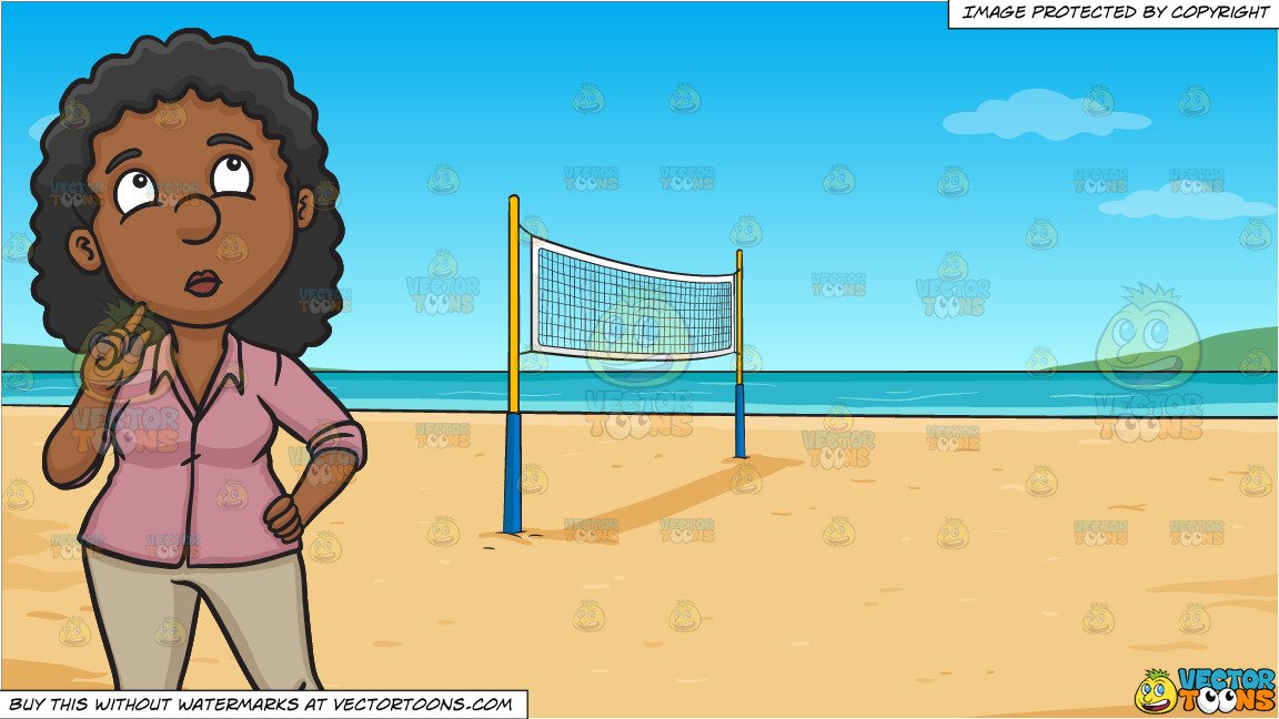 Wonder woman volleyball clipart png transparent library A Black Woman Deliberates On Some Personal Matter and Beach Volleyball  Background png transparent library