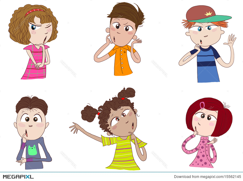 Wondering kid clipart banner transparent download Different Races Of Kids Thinking Illustration 15562145 ... banner transparent download