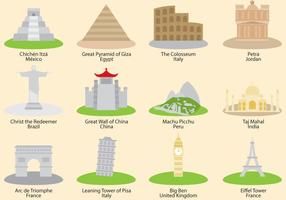 Wonders of nature clipart images png free library 7 wonders of the world - Download Free Vectors, Clipart ... png free library