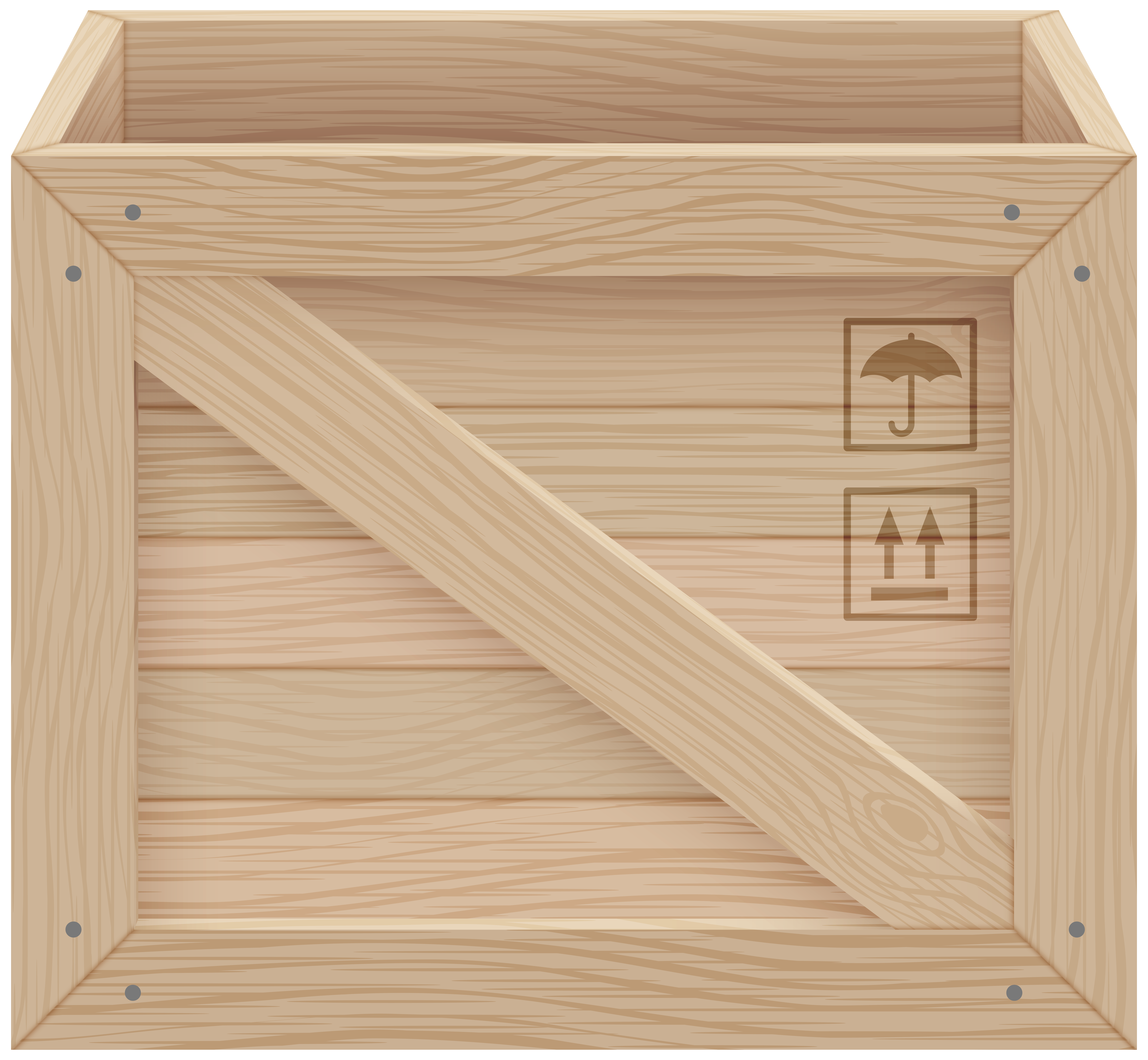 Wood animal crate clipart vector free library Wooden Crate PNG Clip Art - Best WEB Clipart vector free library