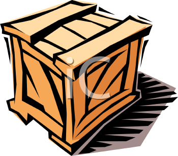 Wood animal crate clipart vector black and white packing crate\