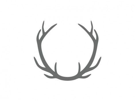 Wood antler clipart svg download Connected Antler Craft Shape   Antlers Wood Shape ... svg download