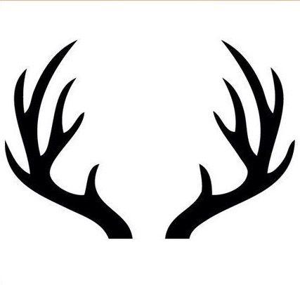 Wood antler clipart graphic black and white stock Deer Antlers   Cricut   Deer stencil, Antler drawing, Deer ... graphic black and white stock