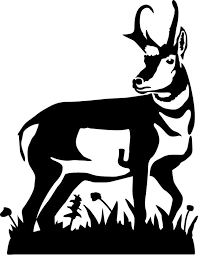 Wood badge antelope clipart clipart freeuse Image result for antelope clipart black and white ... clipart freeuse