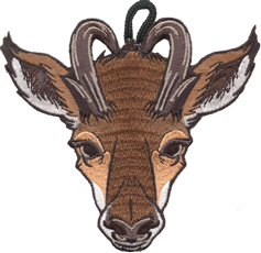 Wood badge antelope clipart clipart black and white library Wood Badge Antelope Critter Gear - ClassB® Custom Apparel ... clipart black and white library
