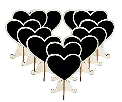 Wood base clipart free clipart transparent 12Pcs Mini Heart Chalkboard Stand With Sturdy Base- Splinter Free! Wood  Blackboard Tag, Message Sign For Wedding Table Number Place Cards, Party  Favor ... clipart transparent