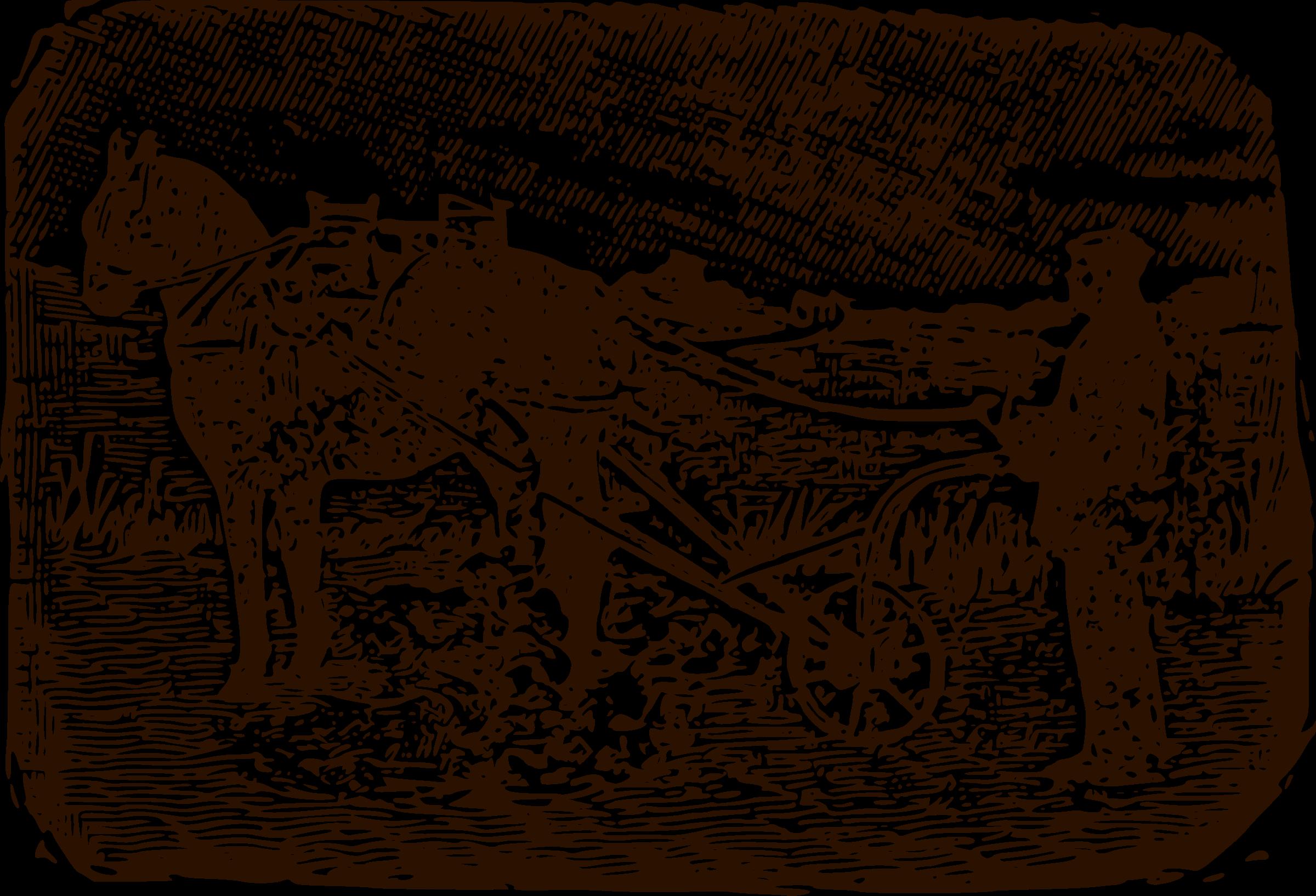 Wood block print clipart clip freeuse Clipart - Farmer Woodblock Print clip freeuse