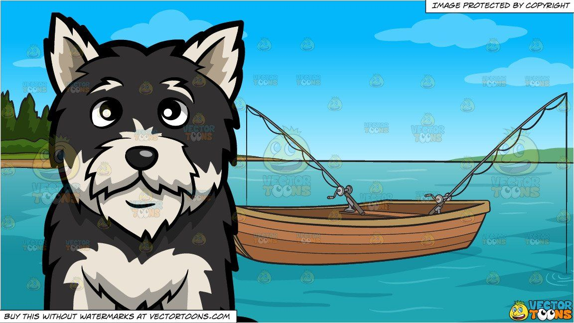 Wood boat drydock clipart graphic free An Intrigued Yorkshire Terrier and Fishing Boat On The Lake ... graphic free