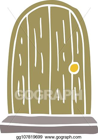 Wood clipart doodle vector royalty free library Vector Art - Cartoon doodle old wood door. Clipart Drawing ... vector royalty free library