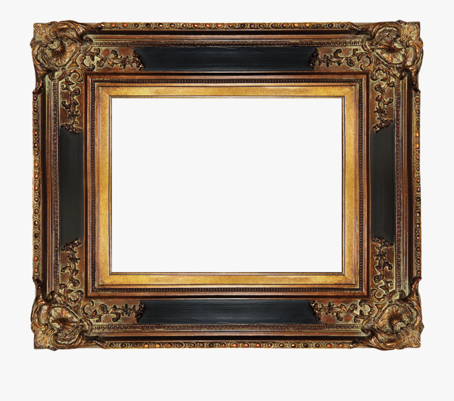 Wood clipart frame clipart black and white library Wood Frame Png Gold - Antique Gold Frame Png #1550351 - Free ... clipart black and white library