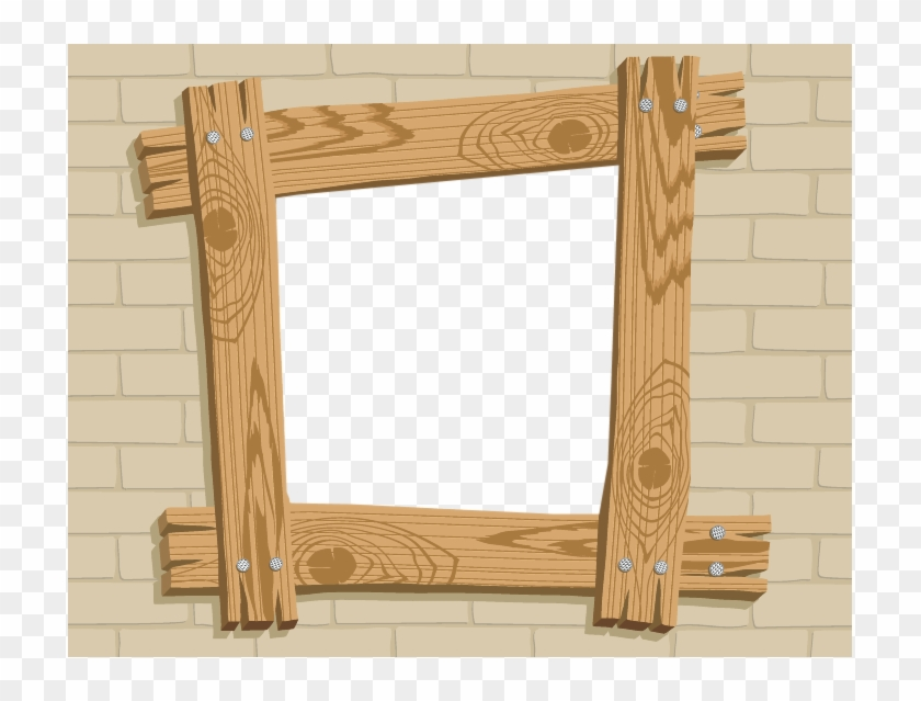 Wood clipart frame vector freeuse Mirror Clipart Wooden Frame - Simple Frame Photo Psd, HD Png ... vector freeuse