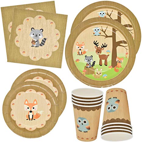 Wood creature soft clipart image free library Gift Boutique Woodland Animal Creatures Tableware Set 24 9\
