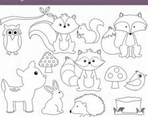 Wood creature soft clipart png black and white Woodland Baby Animals Coloring Pages Coloring Pages ... png black and white