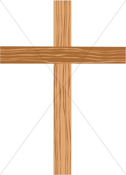 Wood crosses flowers clipart graphic download Wooden Cross with Shades of Brown | Cross Clipart graphic download