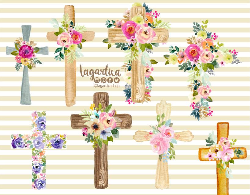 Wood crosses flowers clipart image freeuse stock Angels, Baptism, Babies, Events, Decoration, Digital Paper ... image freeuse stock