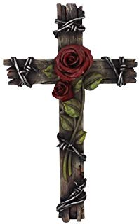 Wood crosses flowers clipart black and white stock Amazon.com: Wood - Wall Crosses / Home Décor Accents: Home ... black and white stock