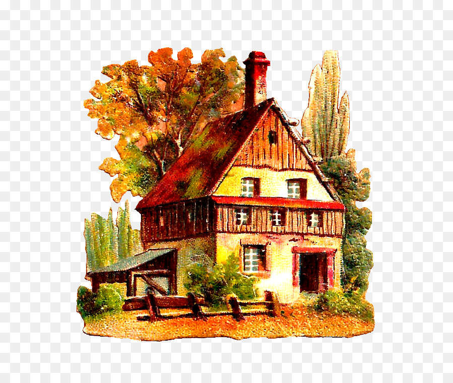 Wood farm house clipart jpg royalty free library Drawing Tree png download - 752*746 - Free Transparent ... jpg royalty free library