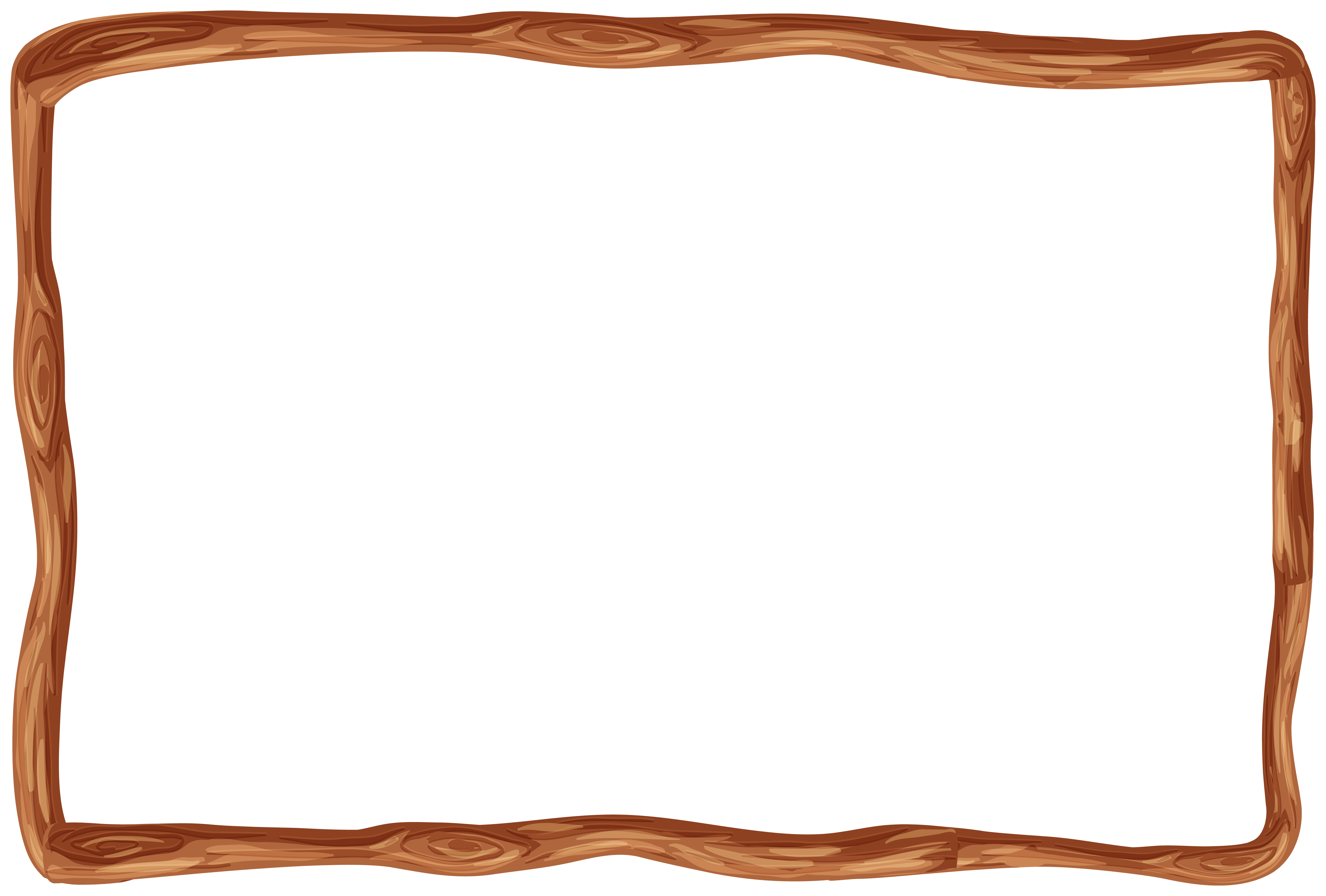 Wood frame border clipart vector royalty free stock Wooden Frame Border PNG Clipart | Gallery Yopriceville ... vector royalty free stock