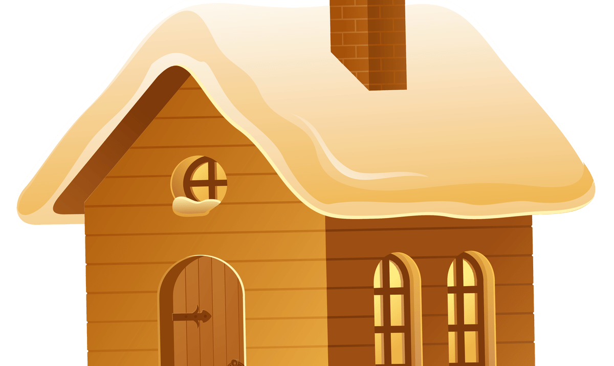 Wood house with chimney clipart banner free Wood House Clip Art | Wooden Thing banner free