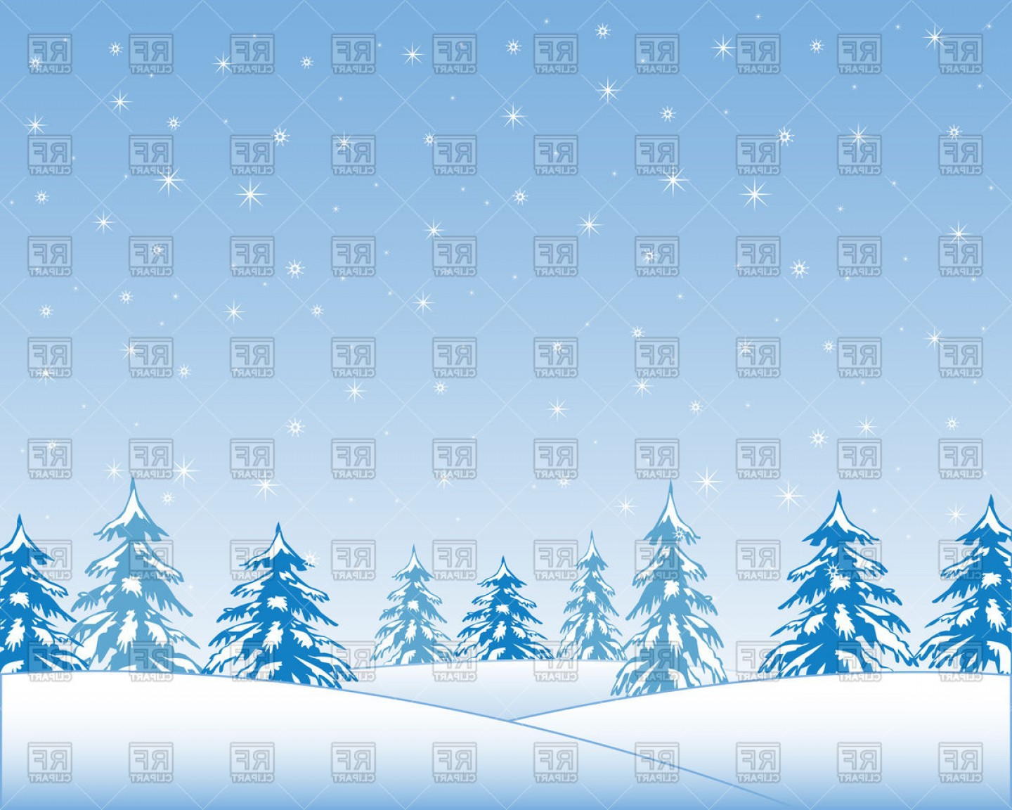 Wood landscaping clipart clipart freeuse library Landscape With Winter Wood And Snow Vector Clipart | Savoyuptown clipart freeuse library