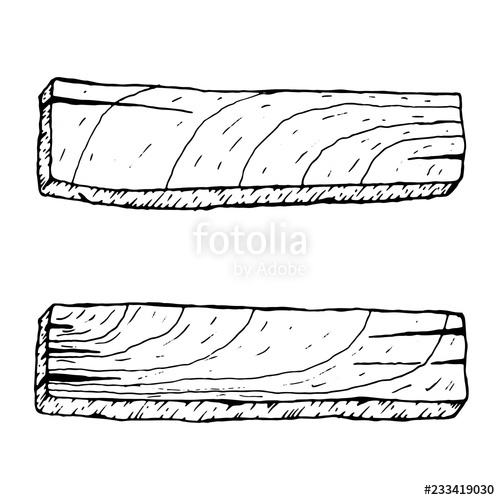 Wood plank black white clipart image black and white download vector illustration. Old Wood plank on white background ... image black and white download