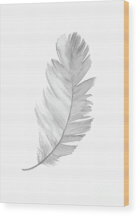 Wood print clipart png royalty free download Feather Gray Clipart Kids Decoration, Baby Girl Boy Art Print, Illustration  Wood Print png royalty free download