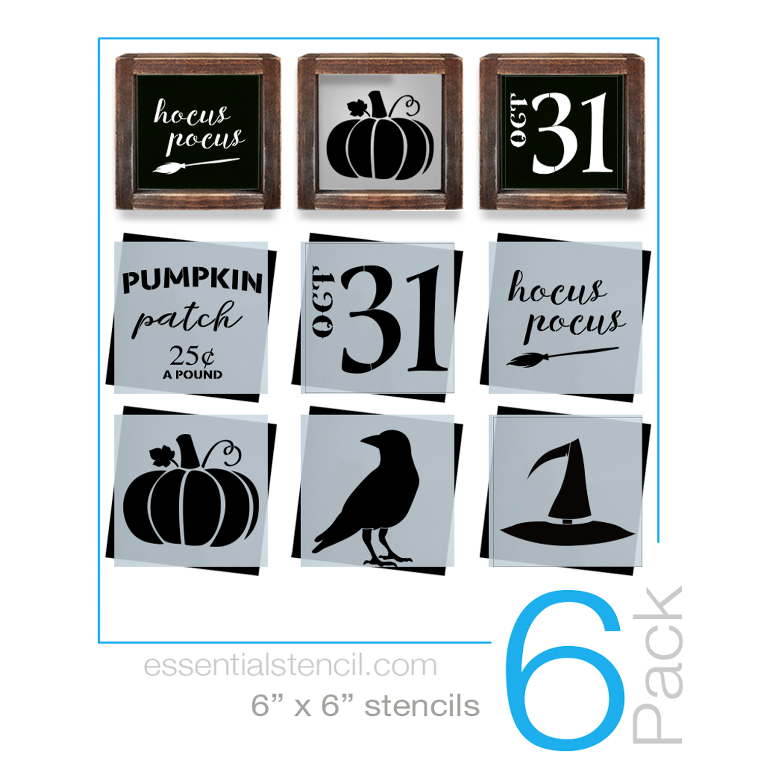 Wood sign maker clipart banner library download Halloween Sign Stencils (6 Pack) banner library download