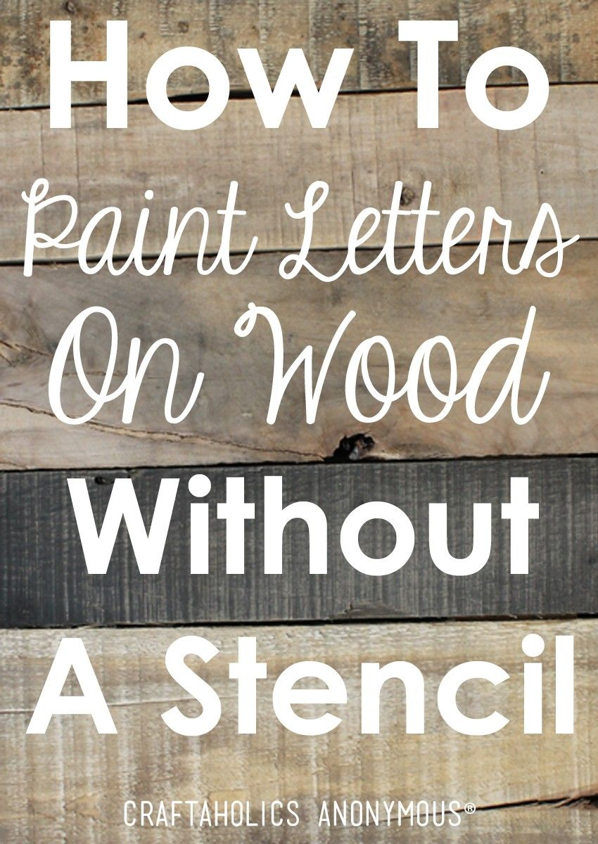 Wood sign maker clipart clipart freeuse How to Paint Letters on Wood Without a Stencil ... clipart freeuse